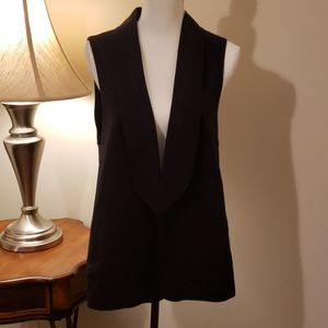 Black Long Mossimo Vest Large